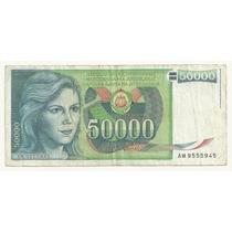Billete Yugoslavia 50,000 Dinara (1988) Dubrovnik