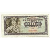 Billete Yugoslavia 10 Dinara (1965) Fundicion