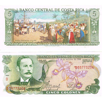 Bill. 5 Colones Costa Rica, Famoso Por Su Belleza