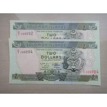 Billete De Las Islas Salomon De 2 Dolares