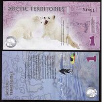 Bonito Billete De Los Territorios Del Artico Con Zorro