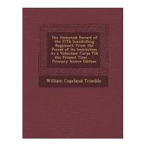 Historical Record Of The 27th, William Copeland Trimble