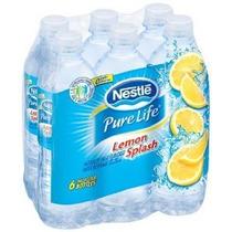 Nestlé Pure Life Limón Splash 16,9 Oz Sabor A Frutas Agua 6