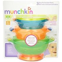 Munchkin Stay Put Tazón De Succión 3 Count (paquete De 2) Mu