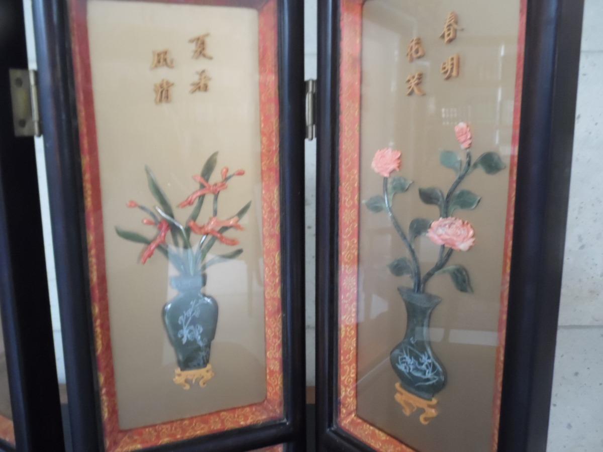 Biombo chino antig edad decoraci n 4 en mercadolibre - Biombos chinos antiguos ...