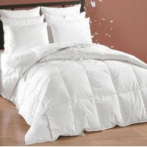 Edredon De Pluma King Size Blanco Con Forro 100% Algodon