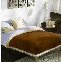 Edredon Cobertor 2 En 1 Borrega Premium King Size Cafe E4f