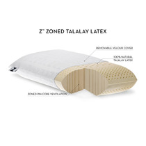 Almohada Z 100% Natural Latex Talalay Organica Queen Malouf