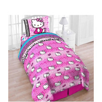 Edredon Hello Kitty Importado Tam Individual Incluye Sabanas
