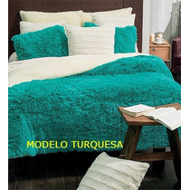 Cobertor Everest Modelo Turquesa Vianney Qs / Ks