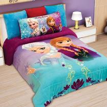 Cobertor Matrimonial Providencia Frozen Love Borrega