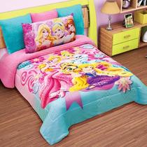 Cobertor Matrimonial Providencia Princesas Pet Borrega