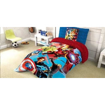 Tapa A Tus Hijos Con El Edredon Marvel Avengers Mas Regalo