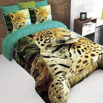 Coberto Matrimonial Providencia Hd Jaguar Reverso Borrega