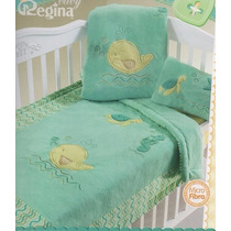 Cobertor Cunero Ballenita Verde Regina