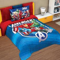 Edredon Matrimonial Infantil Avengers Escudo Providencia