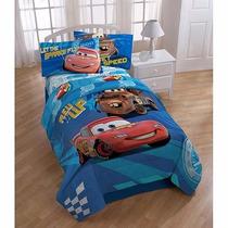 Kit Juego De Sabanas Y Funda Cama Individual Disney Cars