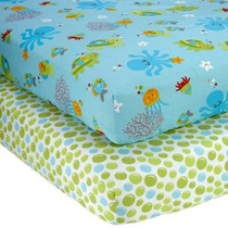 Nojo Poco Bedding 2 Conde Crib Sheet Set Ocean Dreams