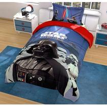 Edredon Star Wars, Cars, Vengadores, Hd Disney Individual