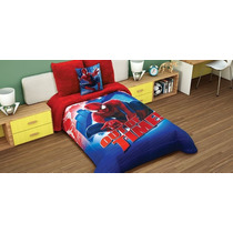 Tapa A Tus Hijos Con El Edredon Spiderman Araña Mas Regalo