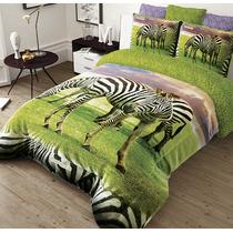 Cobertor Matrimonial Supersoft Providencia Serenity Hd Cebra