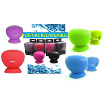 Mini Bocinas De Colores, Recargables A Prueba De Agua Usb