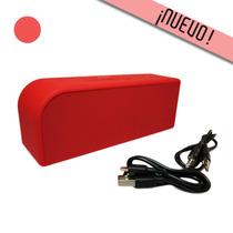 Bocina Roja Bluetooth Auxiliar 3.5mm Entrada Micro Usb 2015