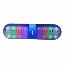 Bocina Bluetooth Tipo Pill   Led   Usb   Micro Sd   Fm   Etc