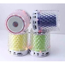 Bocina Recargable Mp3 Micro Sd Usb Auxiliar Radio Fm Luz Led