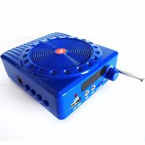 Bocina Megafono Portatil Recargable Usb, Radio Fm, Micro Sd