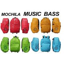 Mochila Backpack Con Bocinas Integradas 4 Colores Diferente