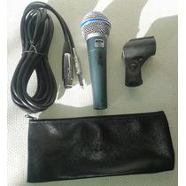 Paquete De 6 Microfonos Mc 58a Rider 58 Con Cable Y Soporte