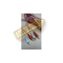 Cable Rca Oro Transparente 6 Metros Bolsa Dxr081370