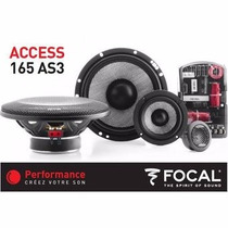 Set De Medios Focal 3 Vias 165as3 6.5 80 Watts Fidelidad