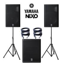Yamaha Dxr15 Bocinas ( 2 Piezas ) + Dxs15 Subwoofer + Cables