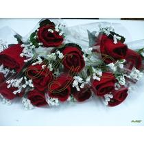Recuerdos Rosas De Toalla 10 Piezas Boda Quinceañera