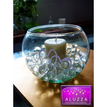 Peceras De Cristal Con Vela E Hidrogel ::..aluzza