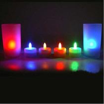 Velas Led Multicolor Al Soplar Se Prenden !!!!