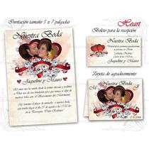 Invitaciones Para Boda-imprimibles Personalizadas+tarjetas