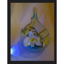 Elegante Esfera De Cristal Colgante Centro De Mesa Bodas10 Pzas.