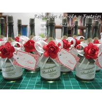10 Burbujeros Botellita Champagne Personalizados Mn4