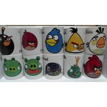 Set Tazas Angry Birds Regalo De Colección, A Msi, Entrega Df