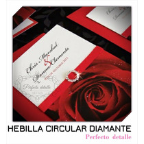 25 Hebillas Circular Diamante Decoracion De Invitaciones