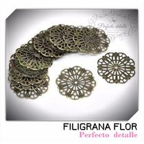 25 Filigranas Flor Bronce Para Decorar Invitaciones
