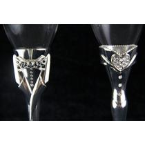 Copas Cristal/plaque Novia & Novio