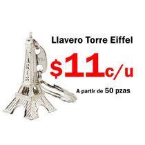 Lote 50 Pzas Llavero Torre Eiffel Paris Metal Recuerdo Boda
