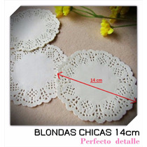 100 Blondas Chicas 14 Cm Para Conos