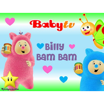 Kit Imprimibles Billy Bam Bam Baby Tv Diseñá Tarjetas 2x1