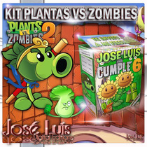 Plantas Vs Zombies 2 Invitaciones Kit Imprimible Jose Luis