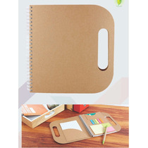 Libreta Ecologica Savo. Con Post It Y Boligrafo. Ecofriendly